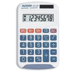 Aurora Electronics Aurora HC133 Handheld Calculator 8 Digit LCD Display 3 Memory Keys Image