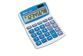Ibico 208X Solar and Battery Power Calculator Desktop Tilt-screen Currency 8-Digit