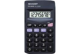 Sharp EL-233SBK Pocket Calculator Large Display 8 Digits