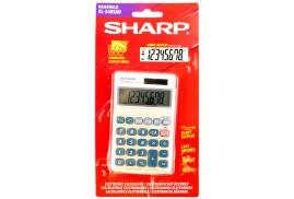 Sharp (8 Digit) Handheld Calculator Battery Solar-Power 3 Key Memory