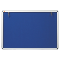 Nobo Lockable (A1: 745 x 1025mm) Visual Insert Board with Internal Blue Felt Surface and Aluminium Frame Image
