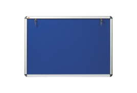 Nobo Lockable (A0: 1060 x 1350mm) Internal Display Case with Blue Felt and Aluminium Frame