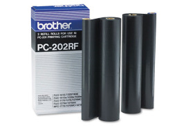 Brother PC202RF Fax Ribbon (Yield: 840 Pages) Black Pack of 2