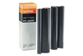 Brother PC302RF Thermal Fax Ribbon (Yield: 470 Pages) Black Pack of 2