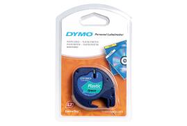 Dymo (12mm) Plastic Tape (Black on Green) for Dymo LetraTAG Series