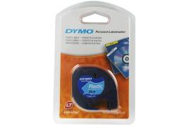Dymo (12mm) Plastic Tape (Blue) for Dymo LetraTAG Series