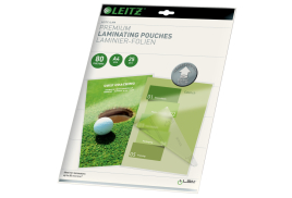 Leitz iLAM Premium (A4) 80 Microns Laminating Pouches (Glass Clear) with UDT (Pack of 25)