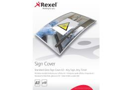 Rexel (A3) Standard Gloss Sign Covers (Pack of 10)