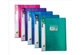 Concord Display Book Flexible Polypropylene 10 Pockets A4 (Assorted Colours) Pack of 10