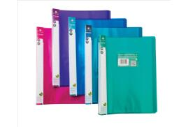 Concord Display Book Flexible Polypropylene 24 Pockets A4 (Assorted Colours) Pack of 10