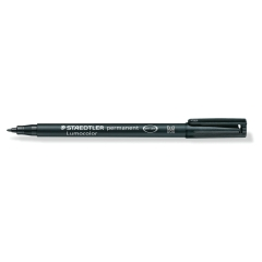 Staedtler Lumocolor 317 (1mm) Permanent Universal Pen (Black) 1 x Pack of 10 Image