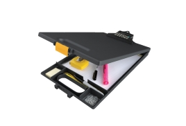 Unbranded Clipcase (A4) Clipboard with Built in Calculator (Black)