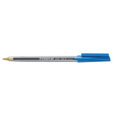 Staedtler Stick 430 (1mm) Medium Tip Ballpoint Pen 0.35mm Line Width (Blue) 1 x Pack of 10 Pens Image