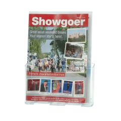 Unbranded Standard (A4) Rigid Literature Holder Clear Image