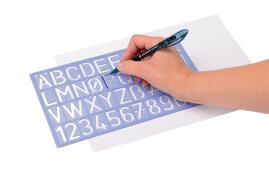 Unbranded Stencil Pack of Letters Numbers and Symbols 10mm 20mm 30mm