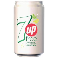 7Up 7UP 330ml Light Soft Drink Can (1 x Pack of 24 Cans) Image