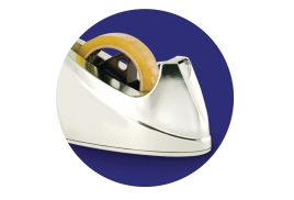 Sellotape Tape Dispenser Small Desktop Non-slip Roll Capacity 19mm Width 33m Length Chrome
