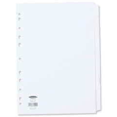 Concord Subject Dividers 150gsm Punched 11 Holes 10-Part A4 White Ref 79701/97 Image