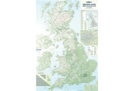 Map Marketing British Isles Motoring Map (Unframed) - Scale 12.5 Miles to 1 inch