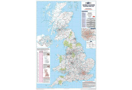 Map Marketing Postcode Areas Map (Unframed) Scale 12.5 Miles to 1 inch