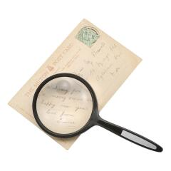 Unbranded Magnifying Glass (61mm Diameter) 2x Main Magnification 4x Window Magnification Image