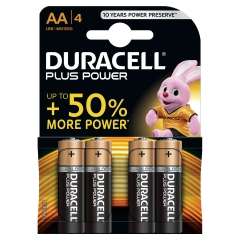Duracell (AA) Plus Power Battery Alkaline 1.5V 1 x Pack of 4 Image