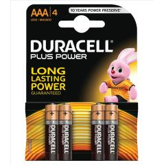 Duracell Plus Battery AAA Pack of 4 Image