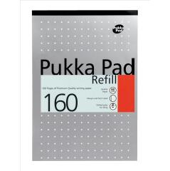 Pukka Pads Pukka Pad (A4) Refill Pad Headbound Ruled with Margin Punched 80gsm 160 Pages White Image