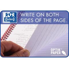 Oxford My-Notes (A5) Notebook Wirebound 100 Pages 70g/m2 Ruled Perforated Punched 4-Holes Card Cover Blue (Pack 5) Image