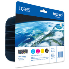 Brother LC985VALBP Ink Cartridge Value Pack (Black/Cyan/Magenta/Yellow) Image