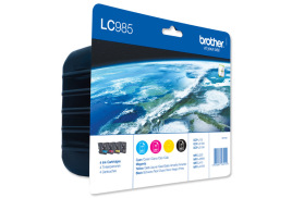Brother LC985VALBP Ink Cartridge Value Pack (Black/Cyan/Magenta/Yellow)