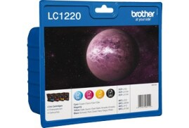 Brother LC1220VALBP (Yield: 300 Pages) Black/Cyan/Magenta/Yellow Ink Cartridge