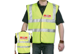 Unbranded Fire Warden (Large) High Visibility Vest (Yellow) with Fire Warden Reflective Logo