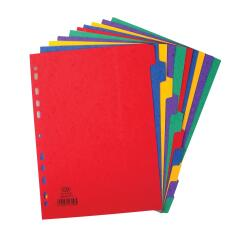 Elba (A4+) Divider 10-Part Heavyweight 225g/m2 Pressboard-Card Assorted  Image