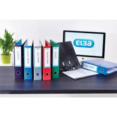 Elba Classy (A4) 70mm Laminated Gloss Finish Lever Arch File (Metallic Silver) Image