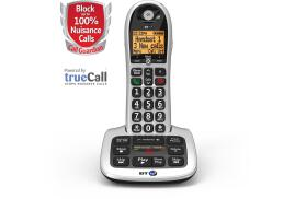 BT 4600 (1.8 inch) DECT Cordless Telephone Big Button Call Blocker Speaker Answering Machine Single-Pack (Silver/Black)