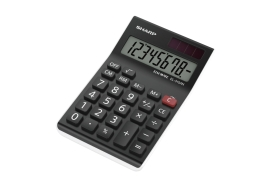 Sharp EL310AX Entry Level Desktop Calculator 8-Digit (Black/White)