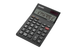 Sharp EL-124AT Desktop Calculator 12-Digit (Black/White)