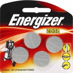 Energizer CR2032 3V 240mAh Lithium Coin Cell for Small Electronics 5004LC (Pack of 4) Image