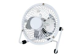 5 Star Facilities Desk Fan 4 inch With Tilt USB 2.0 Interface (White)