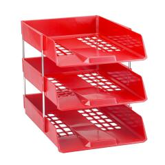 Avery Standard (A4/Foolscap) Stackable Versatile Letter Tray (Red) Image