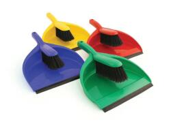 Unbranded Dustpan And Brush Set Soft Bristles (Red)