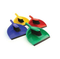 Unbranded Dustpan And Brush Set Soft Bristles (Yellow) Image