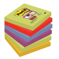 Post-It Post-it Super Sticky (76 x 76mm) Repositionable Notes (Marrakesh Colours) 6 x 90 Sheets Image