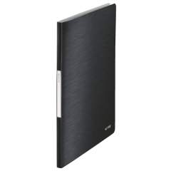 Leitz Style (A4) Soft Polypropylene Display Book (Satin Black) with 20 Clear Pockets Image
