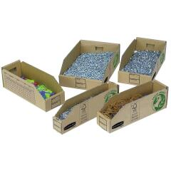Bankers Box by Fellowes Earth Series (98mm) Parts Bin Corrugated Fibreboard Packed Flat (Pack of 50) Image