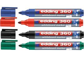 Edding 360 Whiteboard Marker Bullet Tip 1.5-3mm Line (Assorted Colours) Pack of 4
