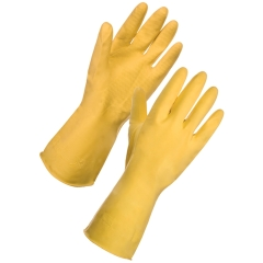 Unbranded Rubber Gloves Medium Yellow (Pair) Image