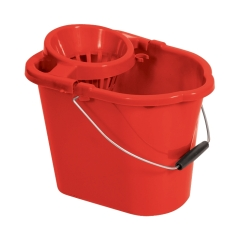 Unbranded Oval Mop Bucket (12 Litre) Red Image