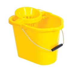 Unbranded Oval Mop Bucket (12 Litre) Yellow Image